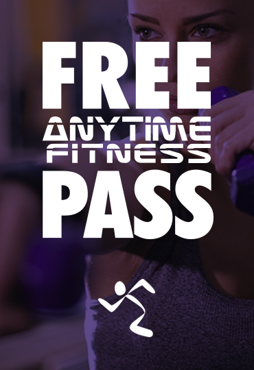 Free three day pass for Anytime Fitness