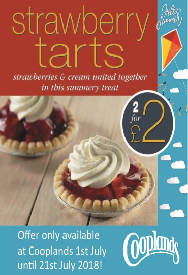 Yummy strawberry tarts 2 for £2 at Cooplands