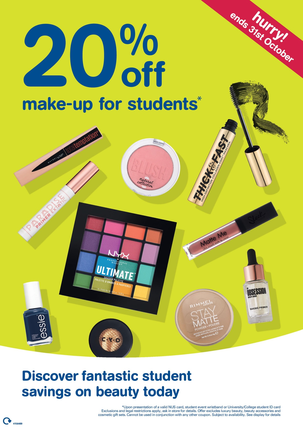Fantastic savings for Students on beauty at Boots