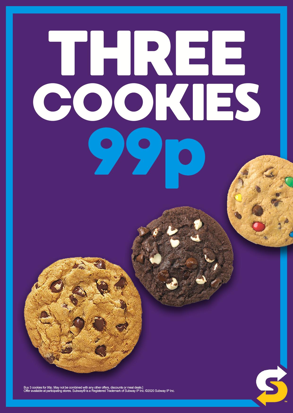 THREE COOKIES 99P