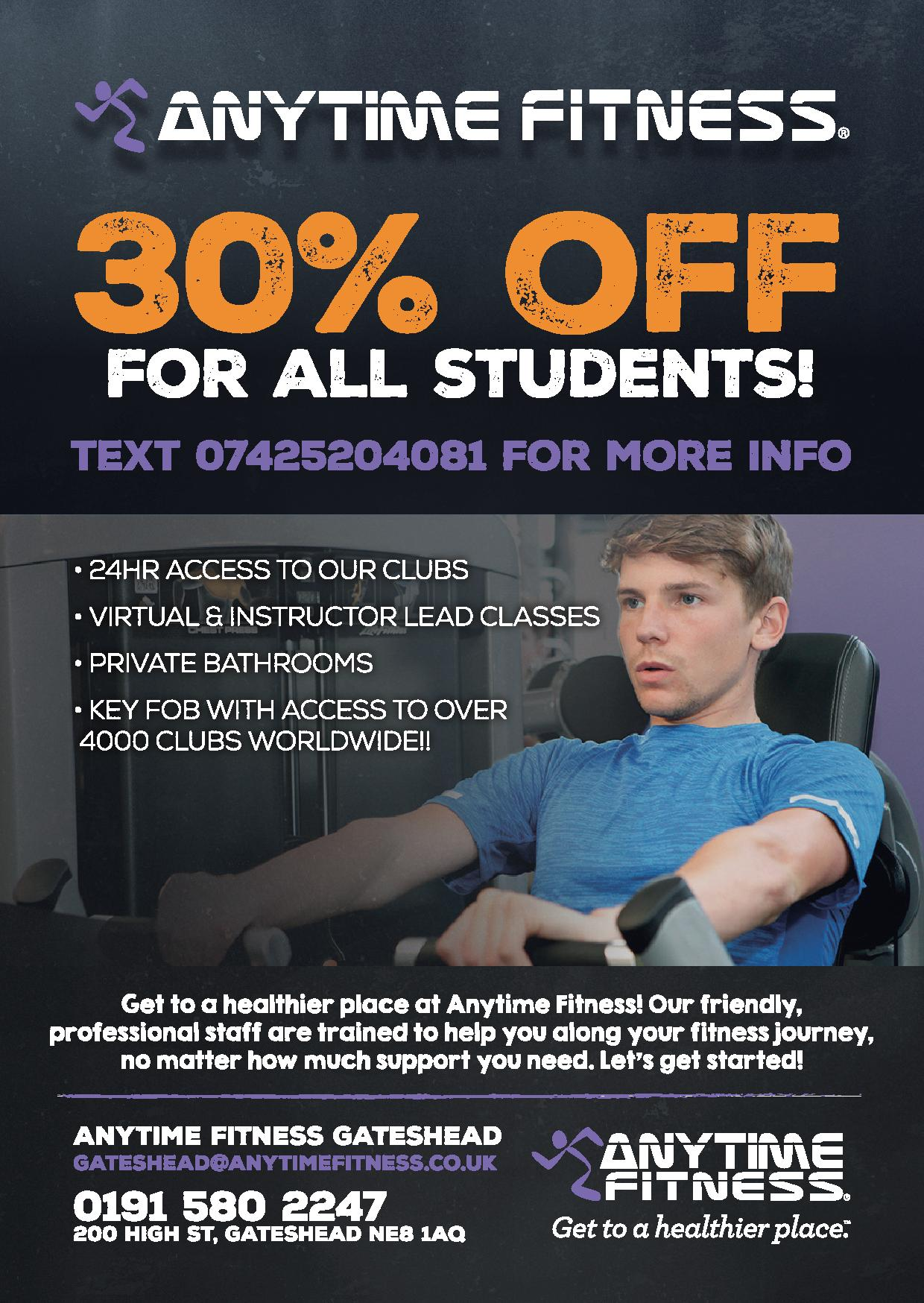 30% off for all students