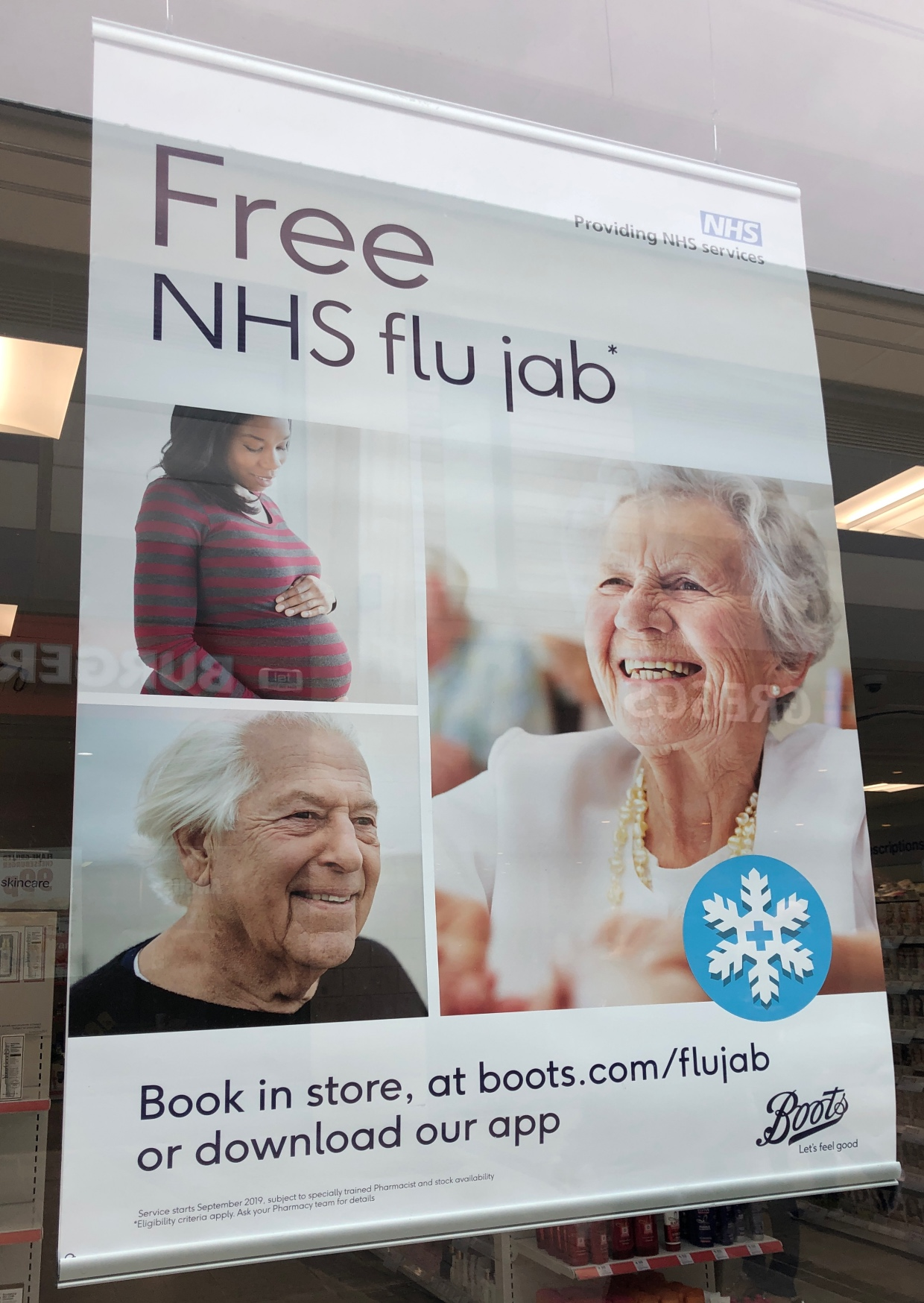 Free NHS flu jab at Boots