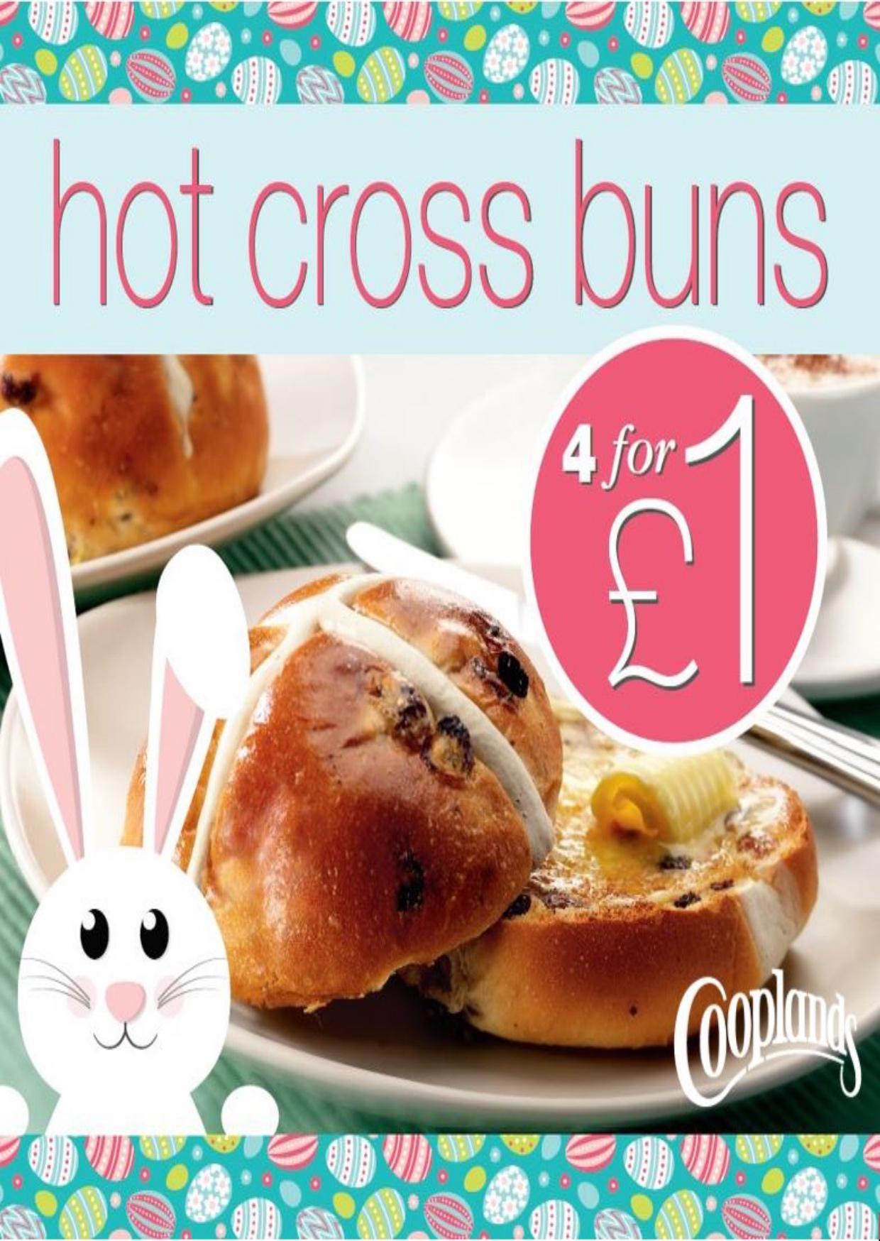 Hot cross buns 4 for £1