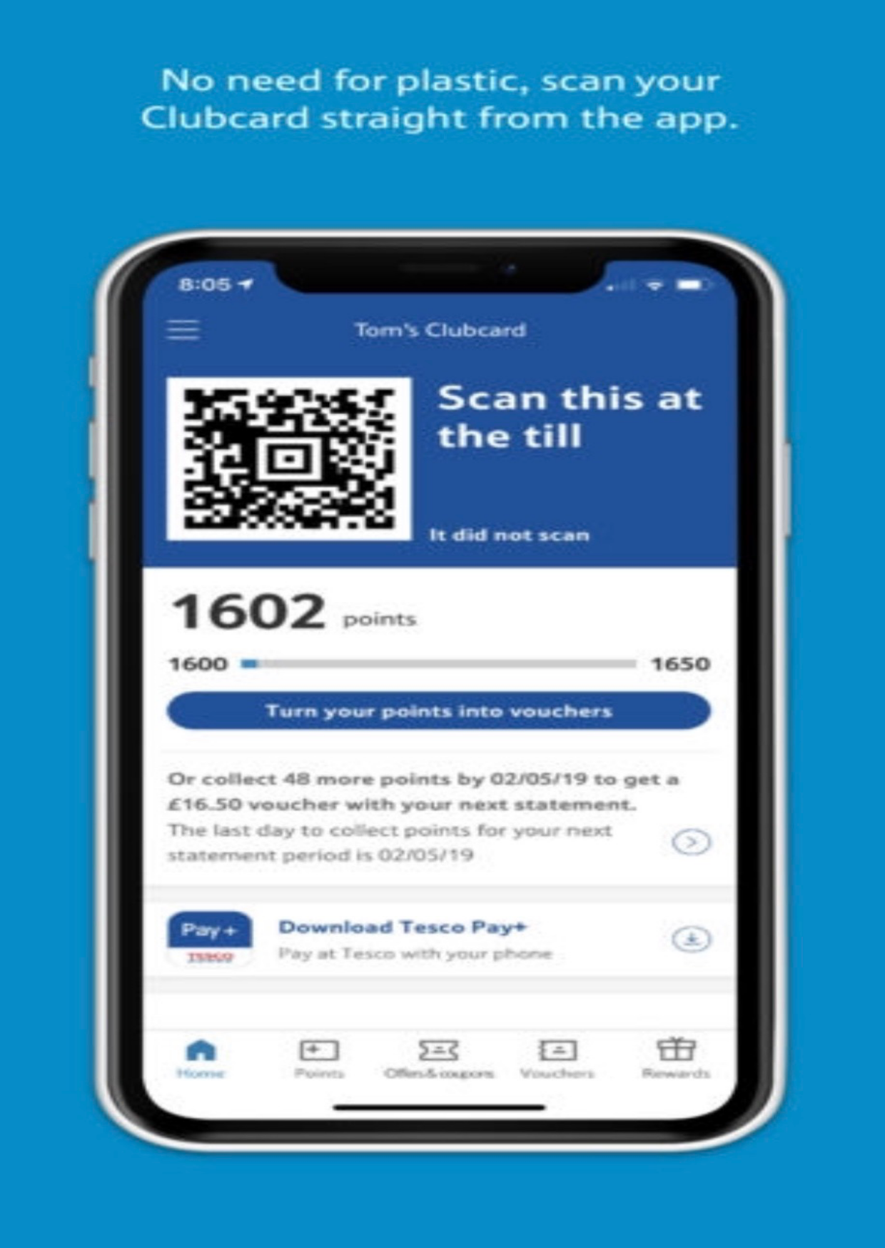 Save with Tesco Clubcard on your phone
