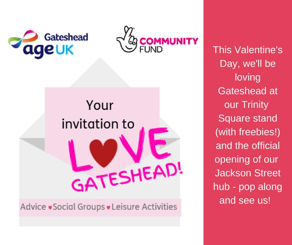Your invitation to Love Gateshead