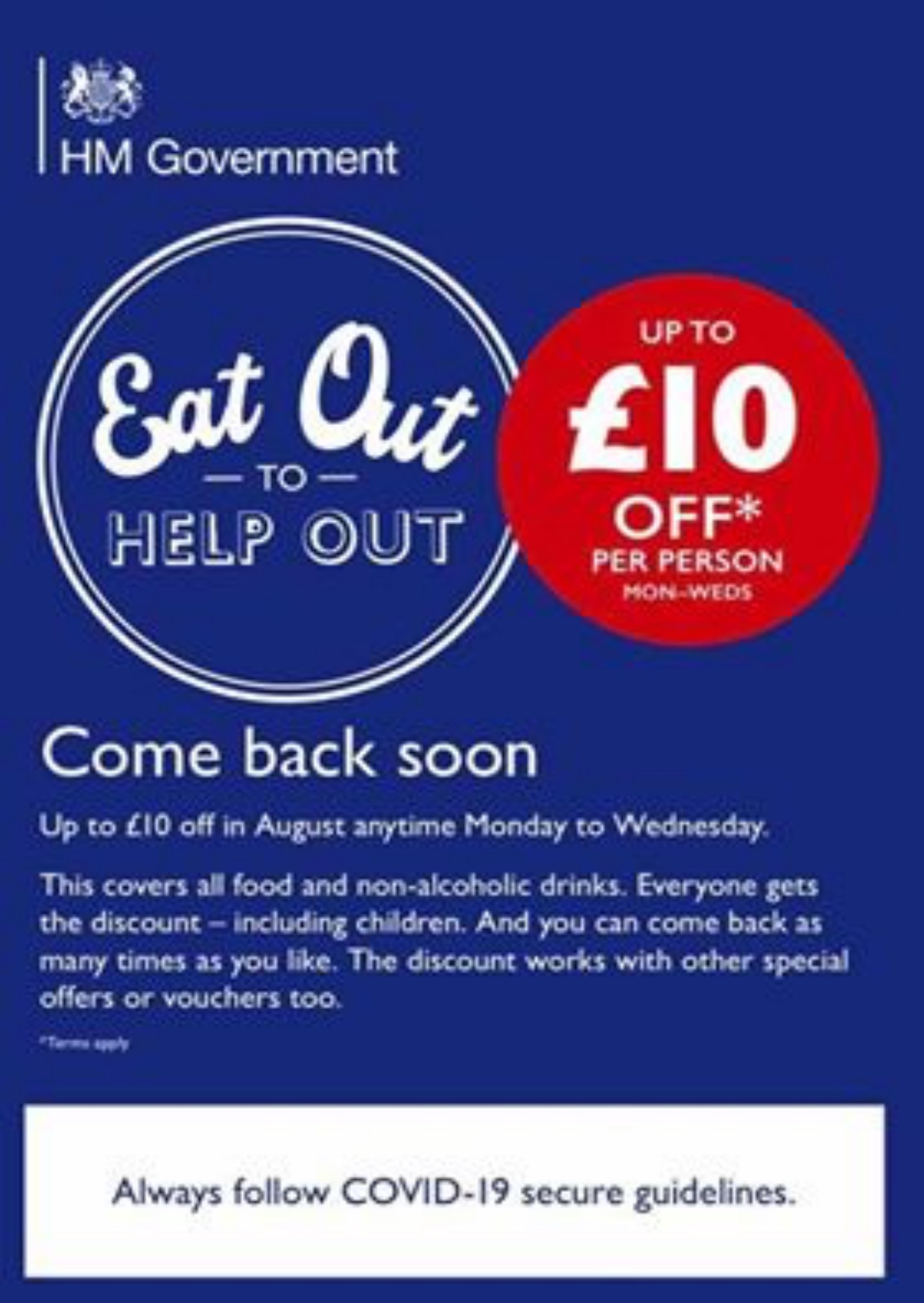 Eat out to help out at Tesco's Cafe in August
