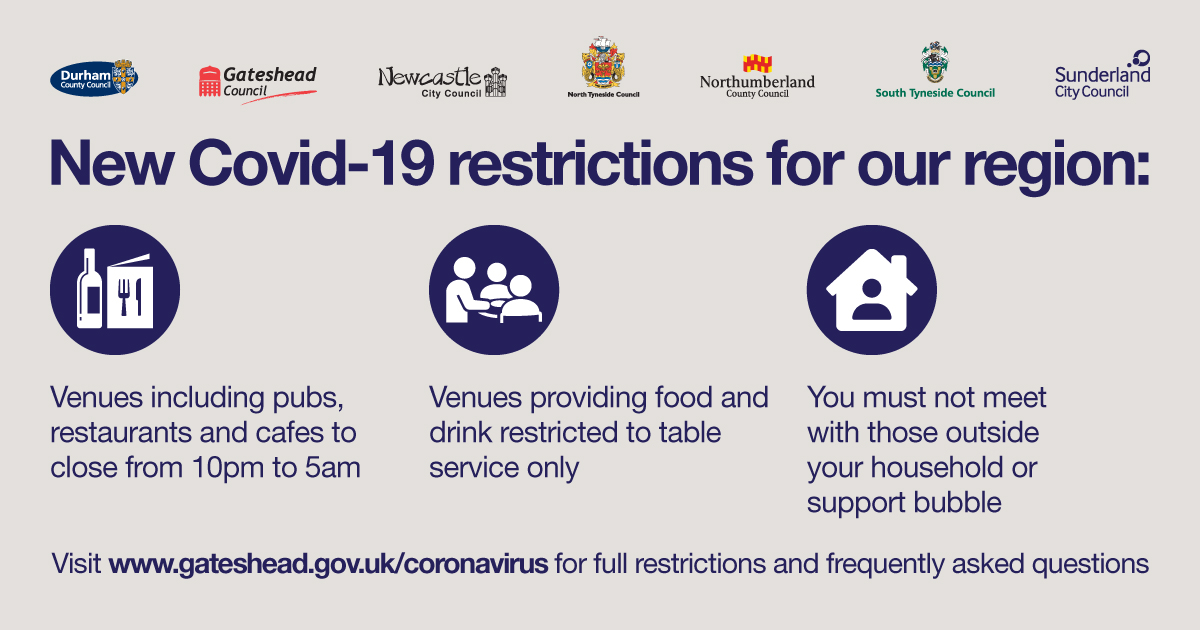 New restrictions for Gateshead and the North East