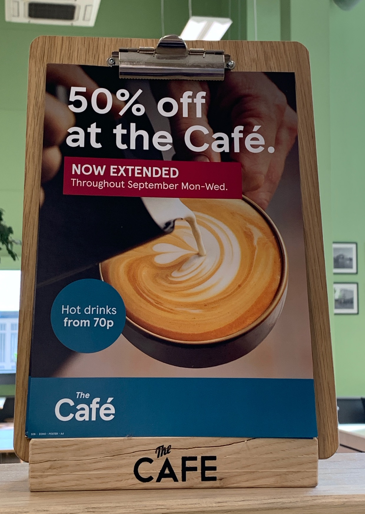 50% off at The Cafe, Tesco